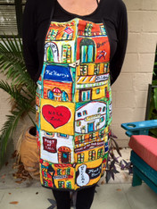 Jax's New Orleans  Mini Paintings Apron