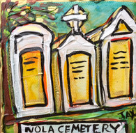 New Orleans Cemetery Mini Painting