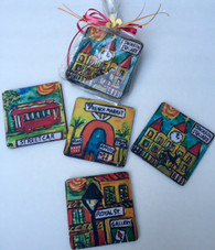Coasters in a Bag - New Orleans Places Set