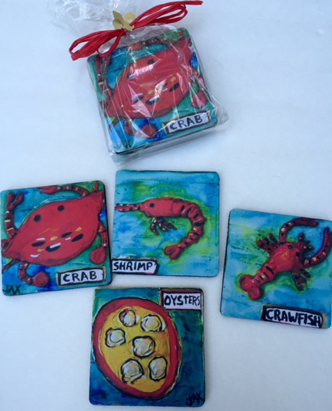 Seafood Coasters in a Bag set