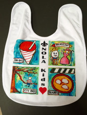 NOLA Kids Love!  New Orleans Baby Bib