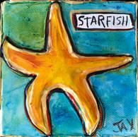 Starfish Mini Painting  New Orleans paintings New Orleans Art New Orleans Gifts