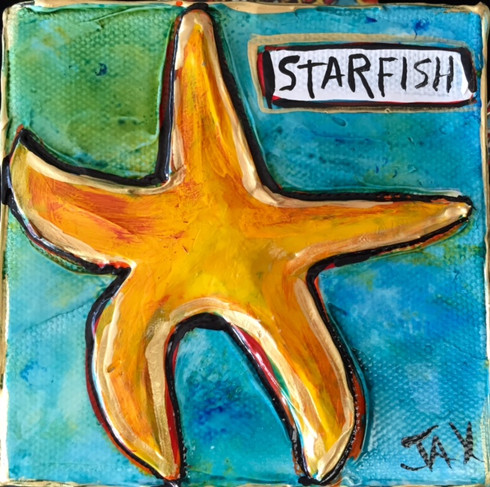Starfish Mini Painting  New Orleans paintings New Orleans Art New Orleans Gifts