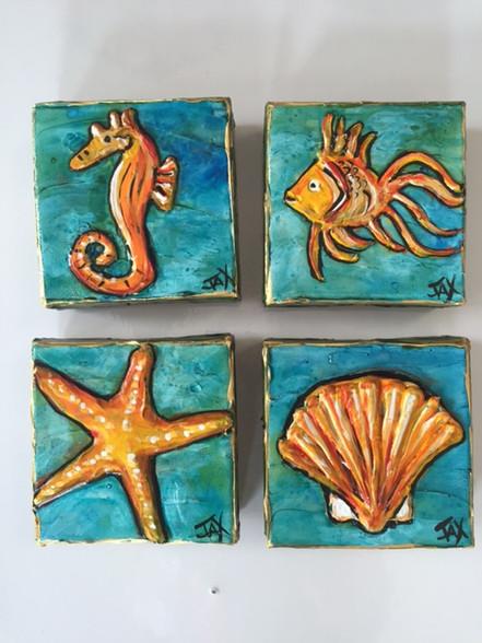 Beach original mini Paintings