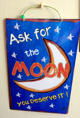 Wacky Jax Metal Sign -  Ask for the Moon