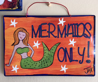 Wacky Jax Metal Sign - Mermaids Only