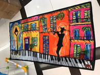 Piano sidewalk Scarf New Orleans Art Jax Frey
