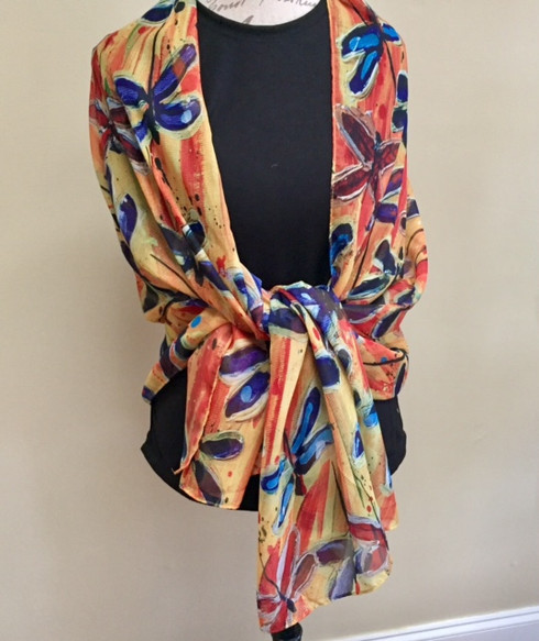 Story Scarves - Dragonflies
