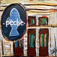 Peche restaurant Mini Painting