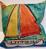 Pillow - Sailboat