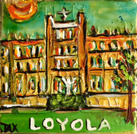 Loyola Mini Painting - New Orleans Art