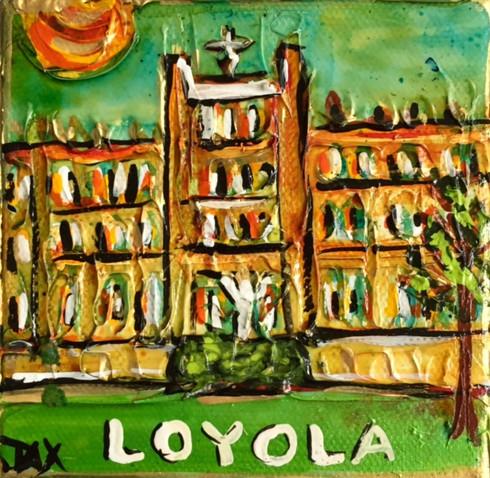 Loyola Mini Painting - New Orleans Art