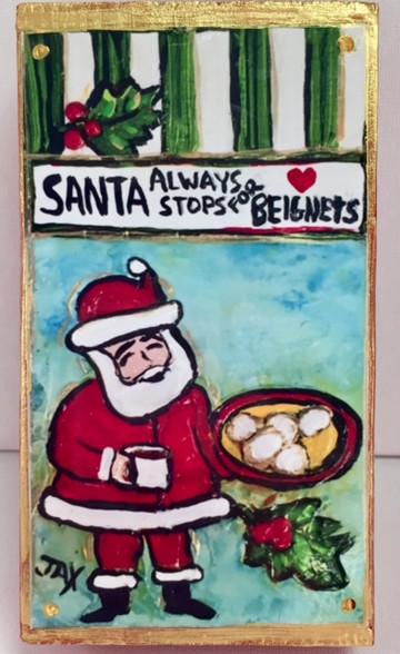 Blocks by Jax - Santa always Stops for Beignets!