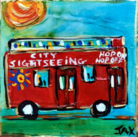 Hop On Hop Off Bus Mini Painting