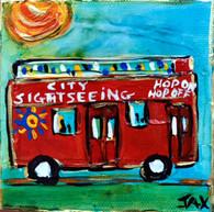 Hop On Hop Off Bus Mini Painting