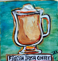 Irish Coffee Mini Painting