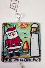 Santa Beach ornament