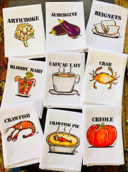 What's Cookin' Kitchen Art - Tea Towels