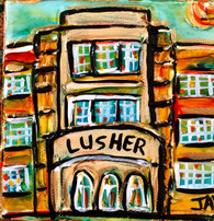 Lusher high school mini painting