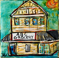 ABC Grocery mini painting