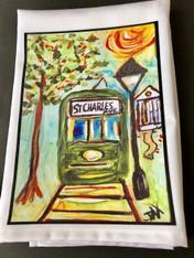 Tea Towel - St. Charles Avenue Streetcar
