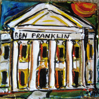 Ben Franklin High School Mini Painting- old school