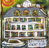 Southern Yacht Club Mini Painting New Orleans Art