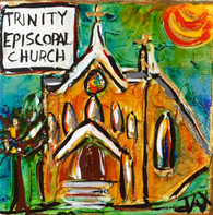 Trinity Episcopal Church Mini Painting
