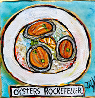 Oysters Rockefeller Mini Painting
