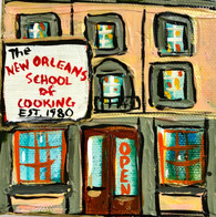 New Orleans School of Cooking Mini Painting