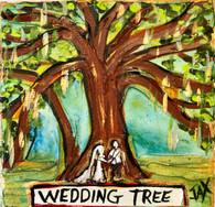Wedding Tree Mini Painting - New Orleans Art