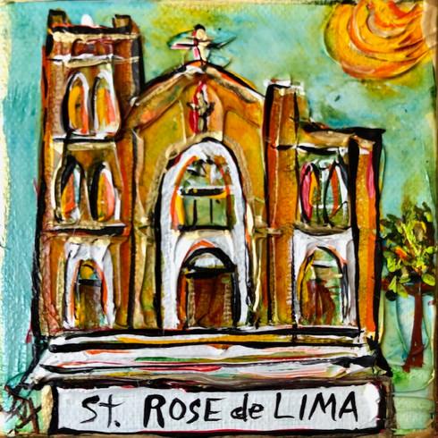 St. Rose de Lima Mini Painting - New Orleans Art