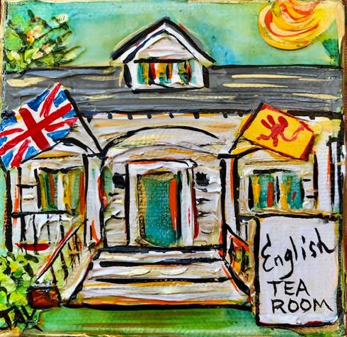 English Tea Room Mini Painting