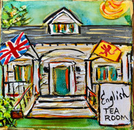 English Tea Room Mini Painting