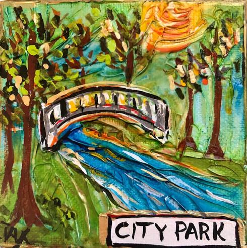 City Park Mini Painting - New Orleans art