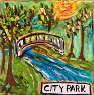 City Park Mini Painting - New Orleans art