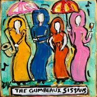New Orleans art - Gumbeaux Sistahs mini painting