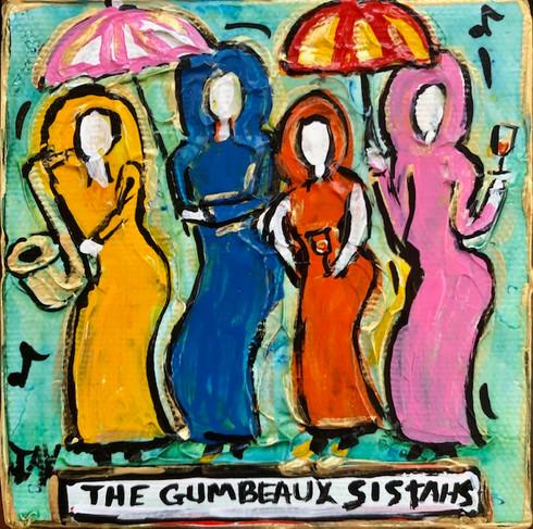 New Orleans art - Gumbeaux Sistahs mini painting