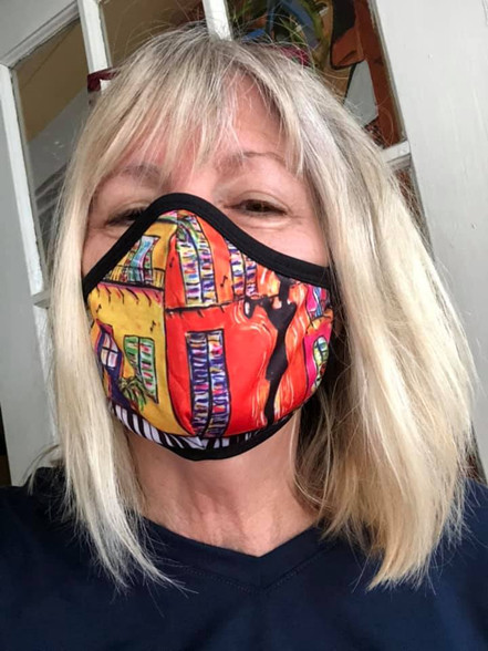 Piano Sidewalks Face Mask New Orleans Face masks