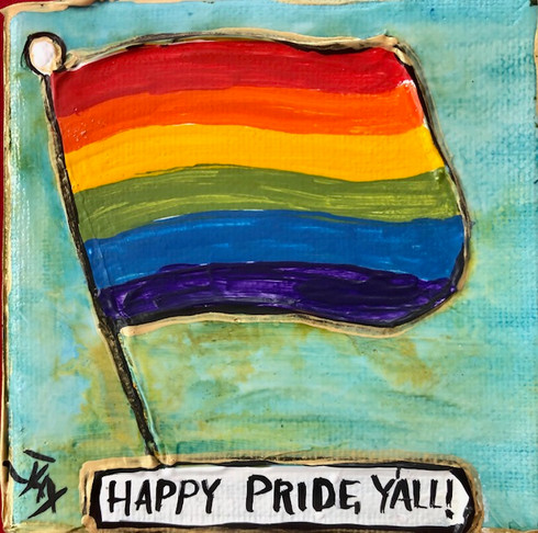 Pride Flag Mini Painting