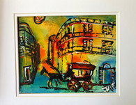 "French Quarter - 11 x 14"" - Original Art Matted"