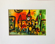 "Jackson Square- 8 x 10"""" - Original Art Matted"