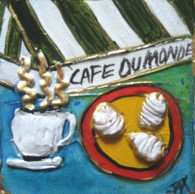 Cafe Du Monde mini painting