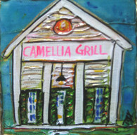 Camellia Grill mini painting