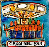 Carousel Bar mini painting