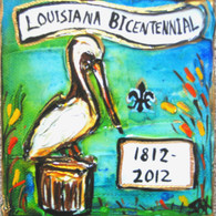 Bicentennial - Louisiana mini painting