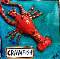 Crawfish mini painting