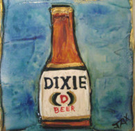 Dixie Beer mini painting