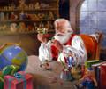 """Santa's Approval"" Christmas cards"
