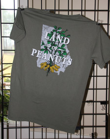 "Georgia Peanuts ""Land of Peanuts"" Sage Comfort Color T-shirt"